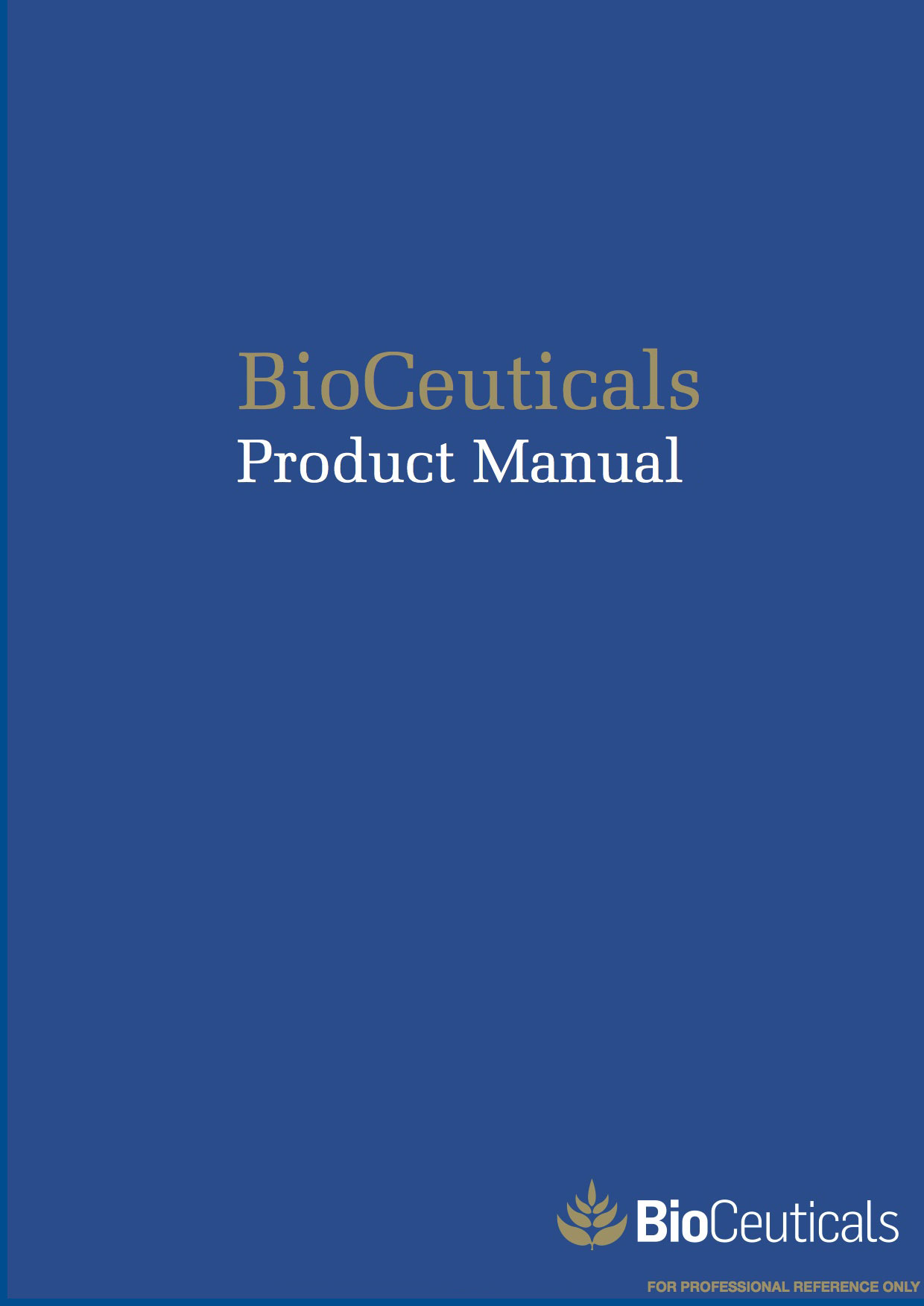 BioCeuticals Product Manual 2014